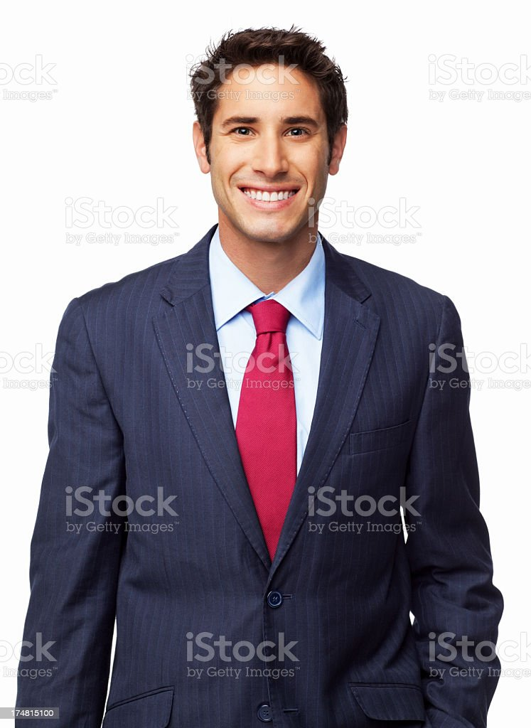 Male Entrepreneur Smiling - Isolated royalty-free stock photo