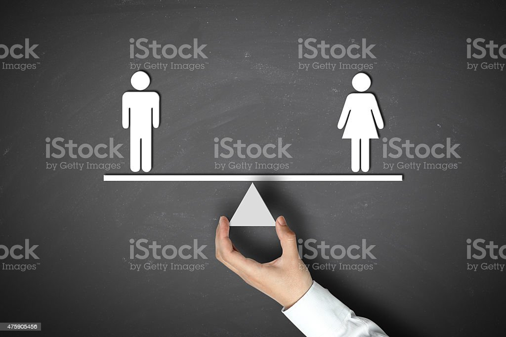 Male equals female stock photo
