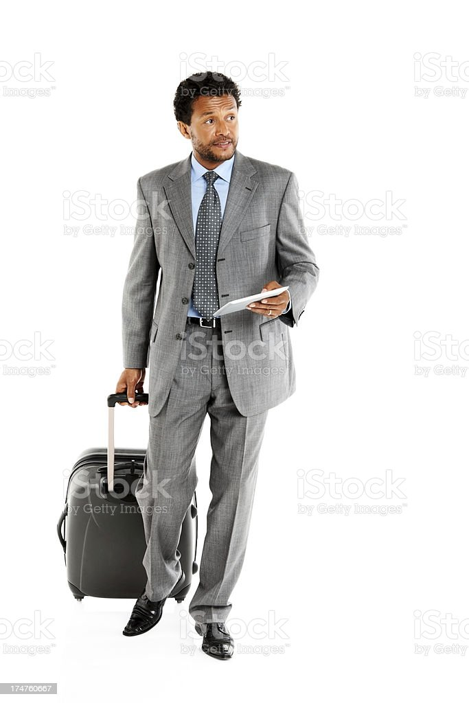 Male executive on business trip royalty-free stock photo