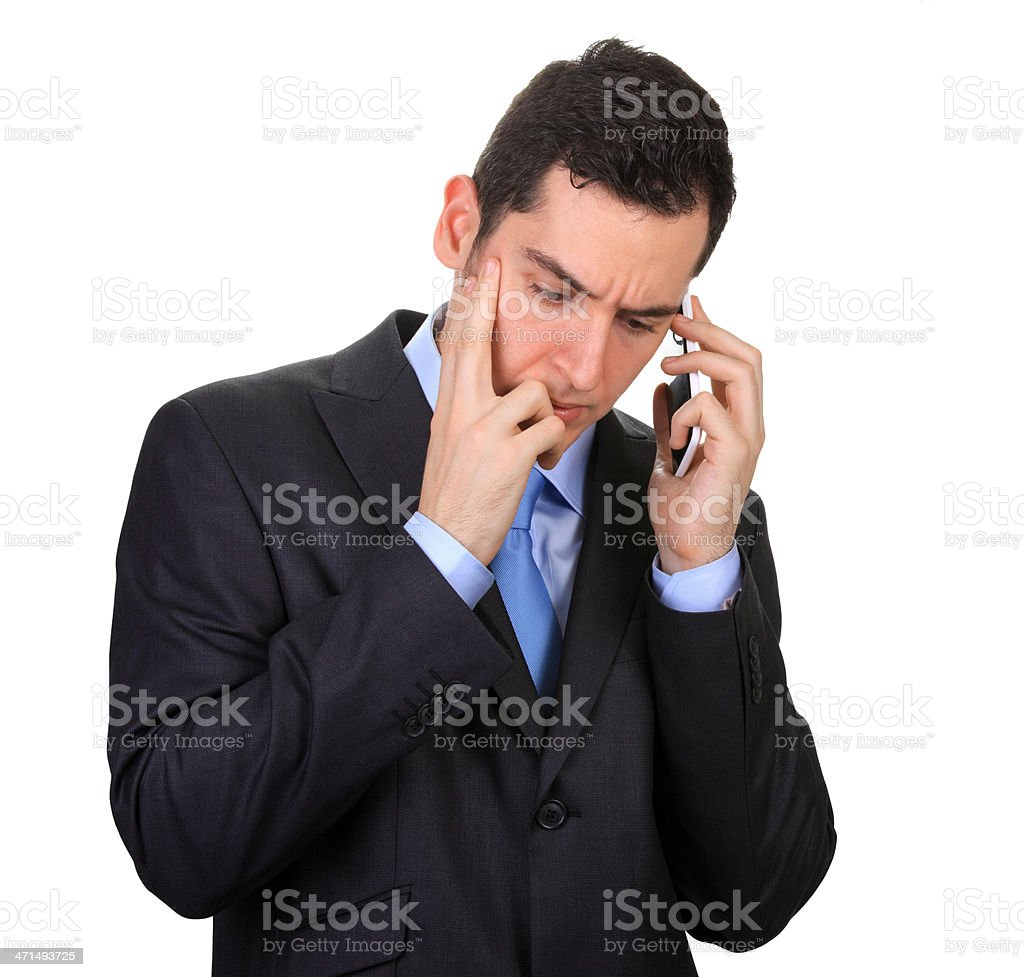 Male Executive Using Cell Phone royalty-free stock photo