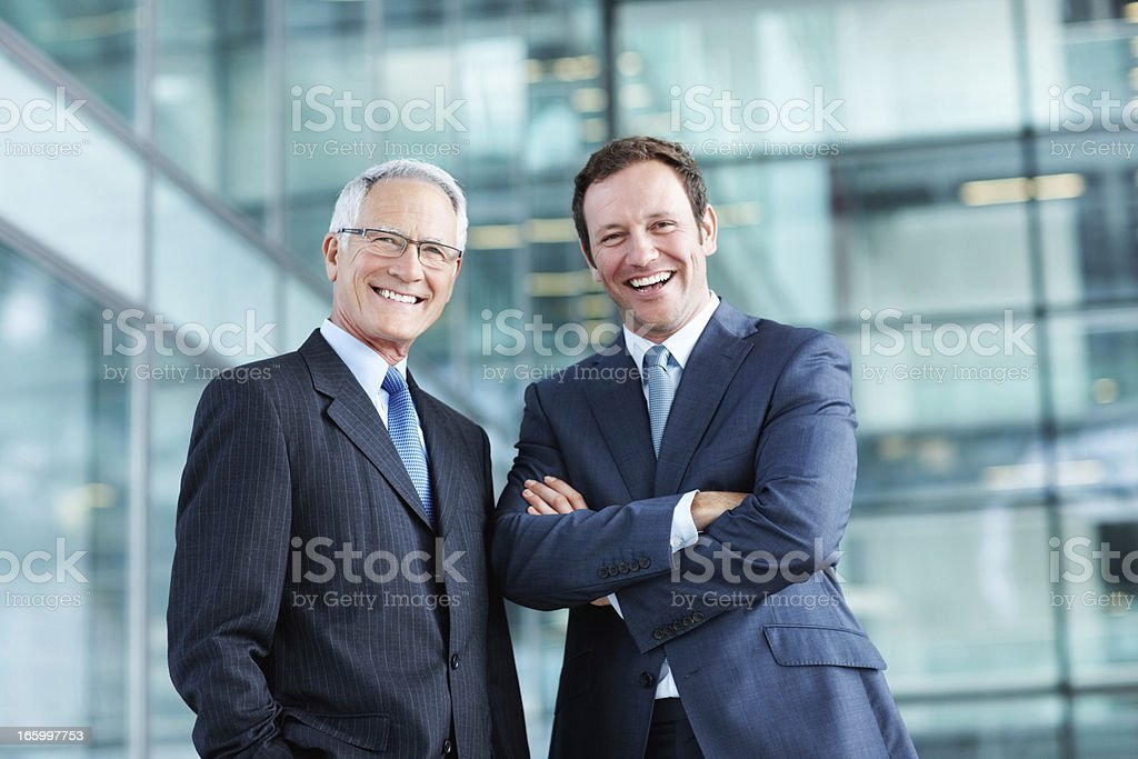 Male executives with pleasing personality stock photo