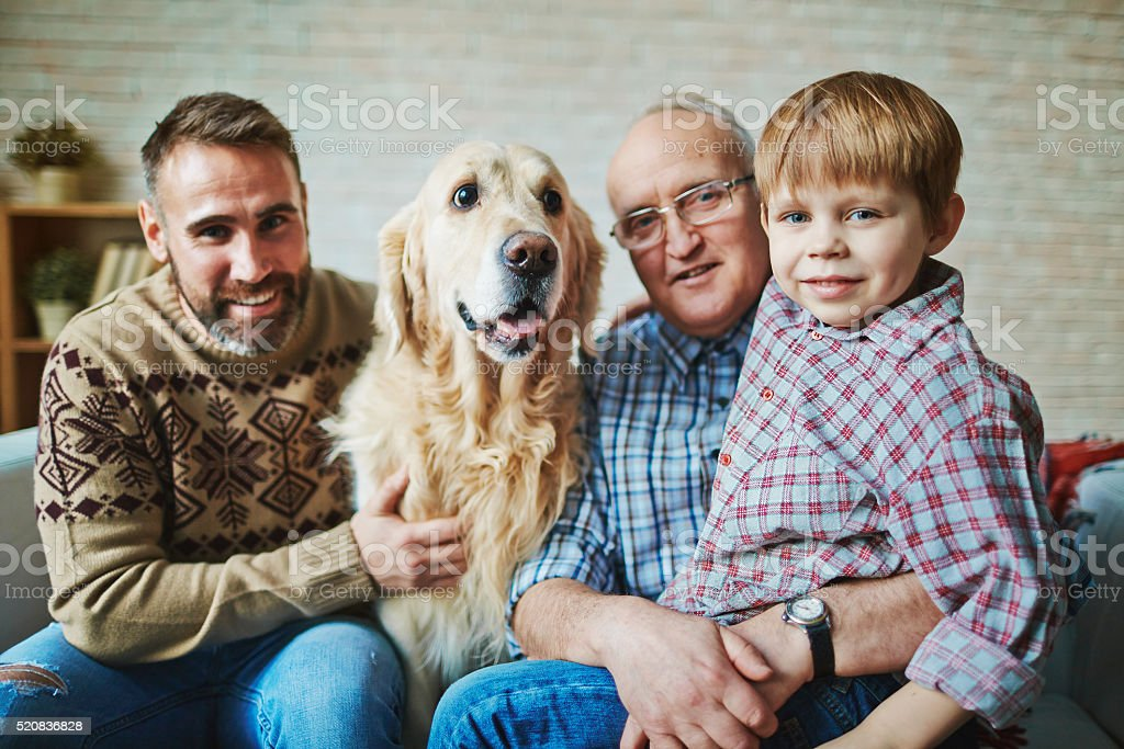 Male family stock photo