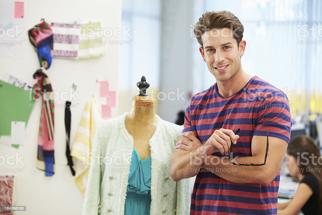 Male Fashion Designer In Studio royalty-free stock photo