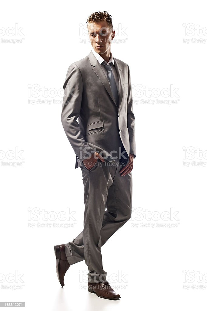 Male fashion model royalty-free stock photo