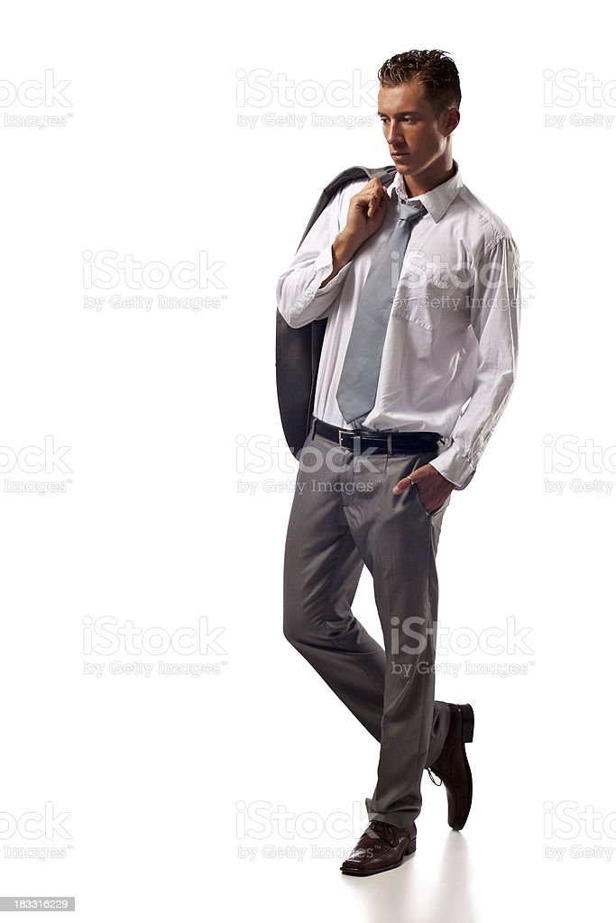 Male fashion model royalty-free stock photo