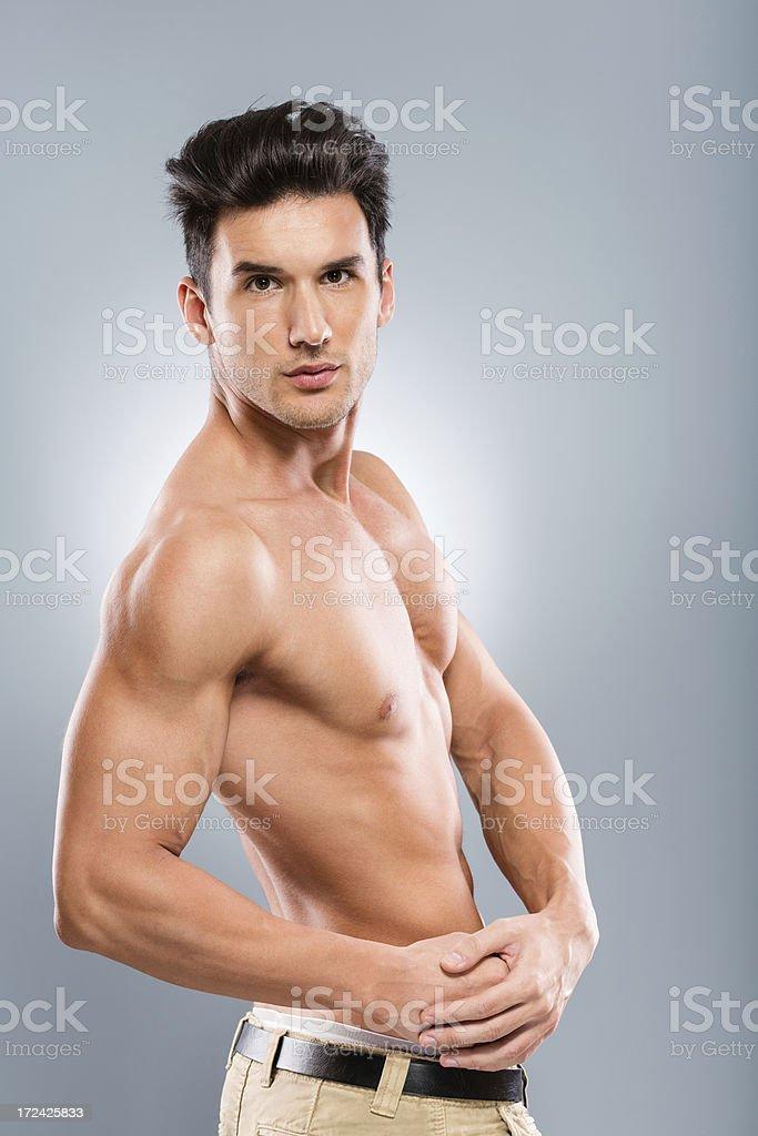 Male fashion model posing royalty-free stock photo
