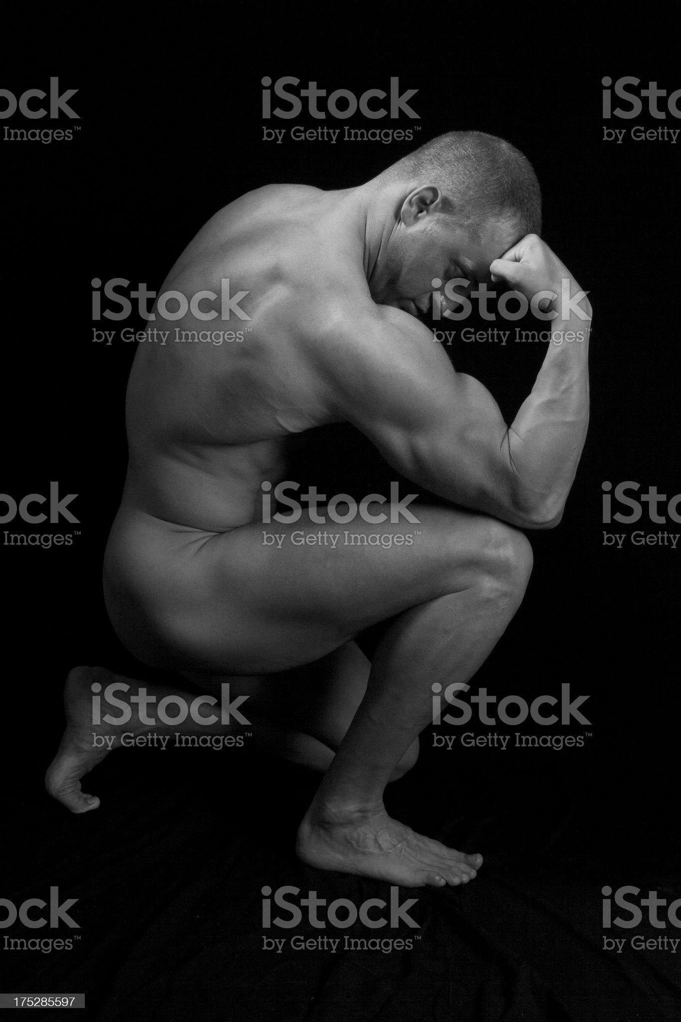 male figure study royalty-free stock photo
