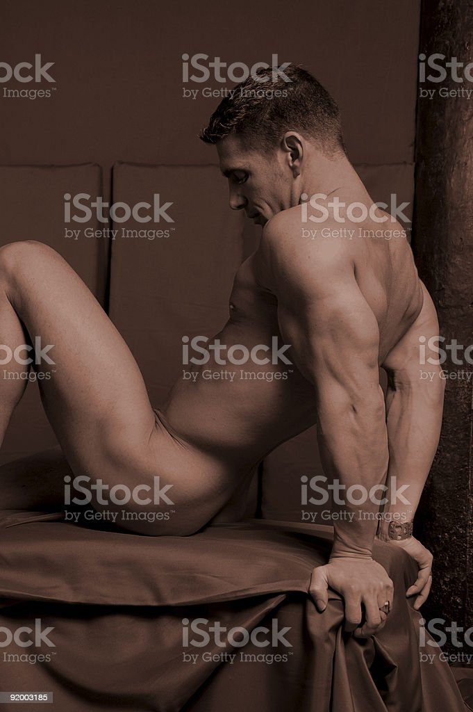 male figure study royalty-free stock photo