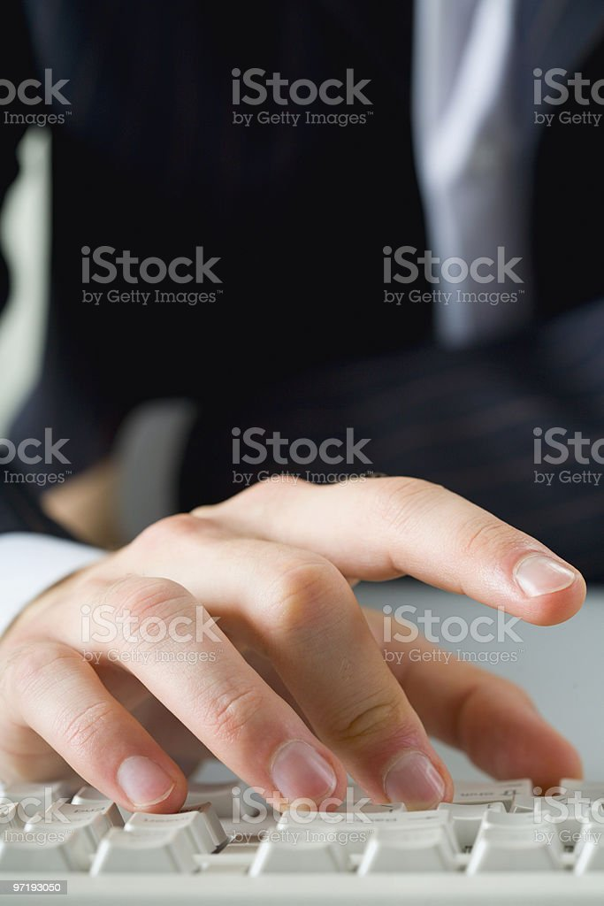 Male fingers royalty-free stock photo