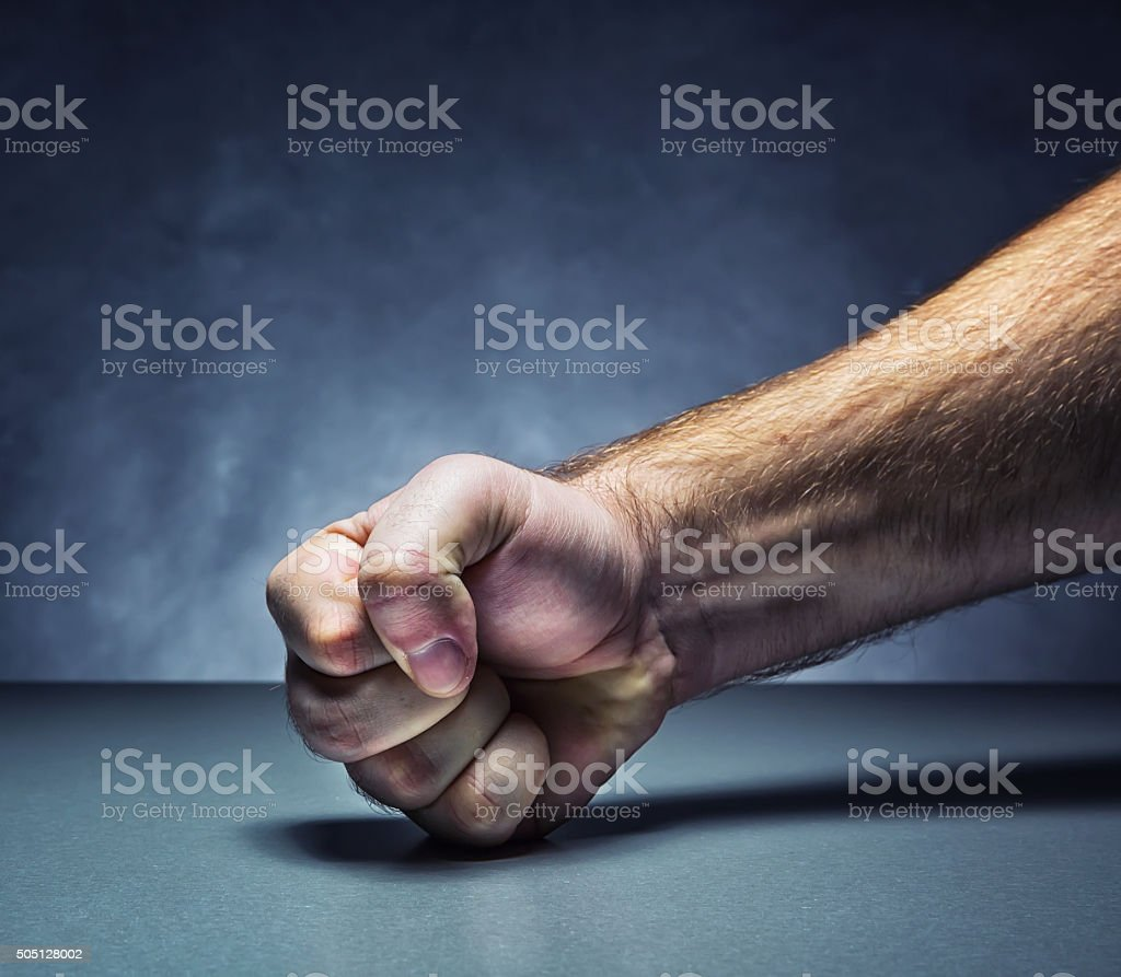 Male fist stock photo