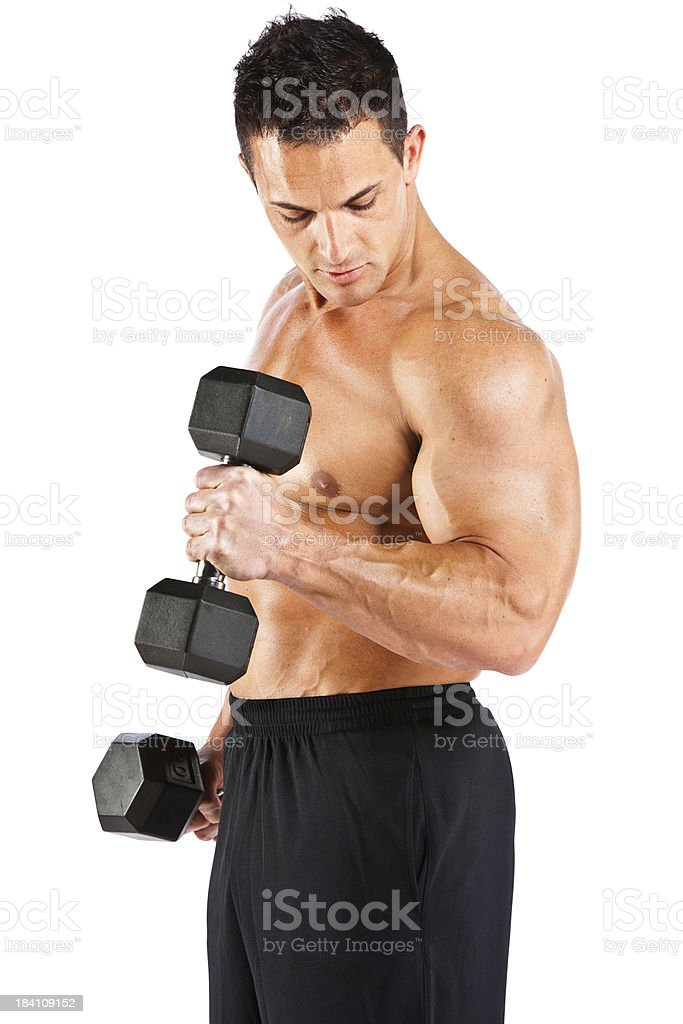 Male Fitness Model royalty-free stock photo