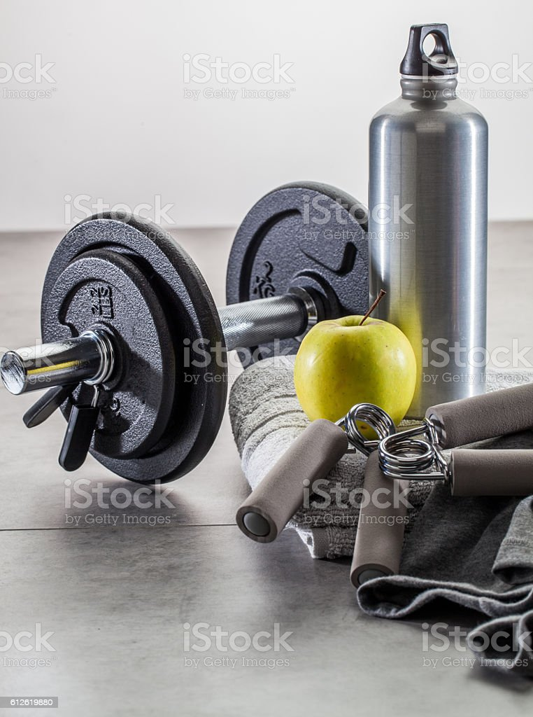 male fitness, muscle and weight lifting at the gym concept stock photo