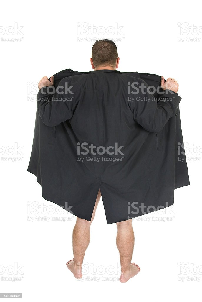 Male Flasher stock photo