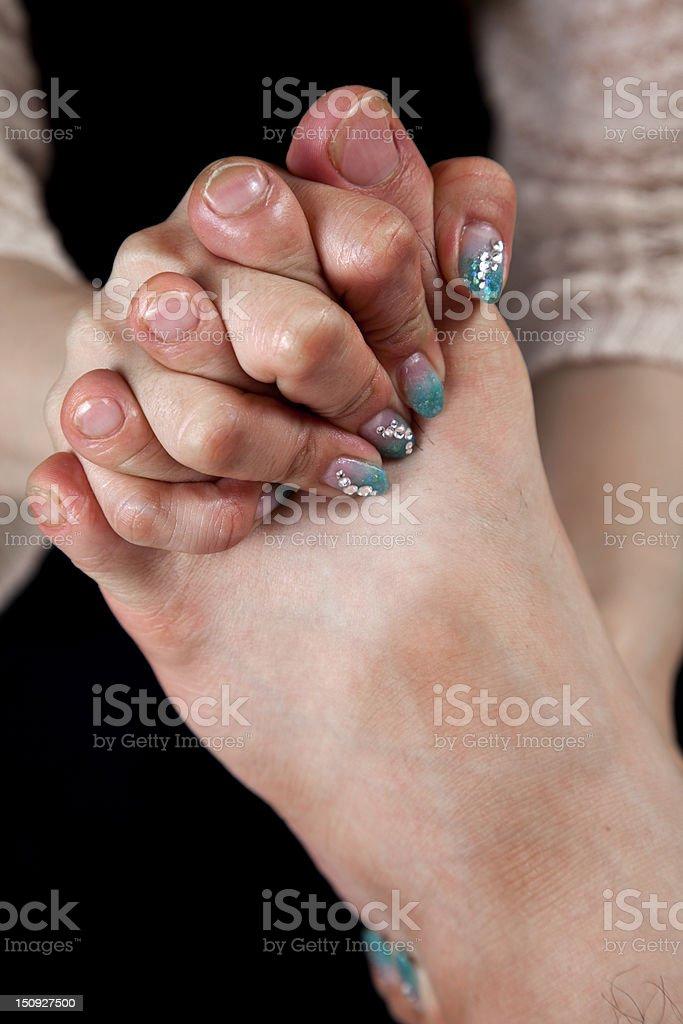 male foot massage royalty-free stock photo