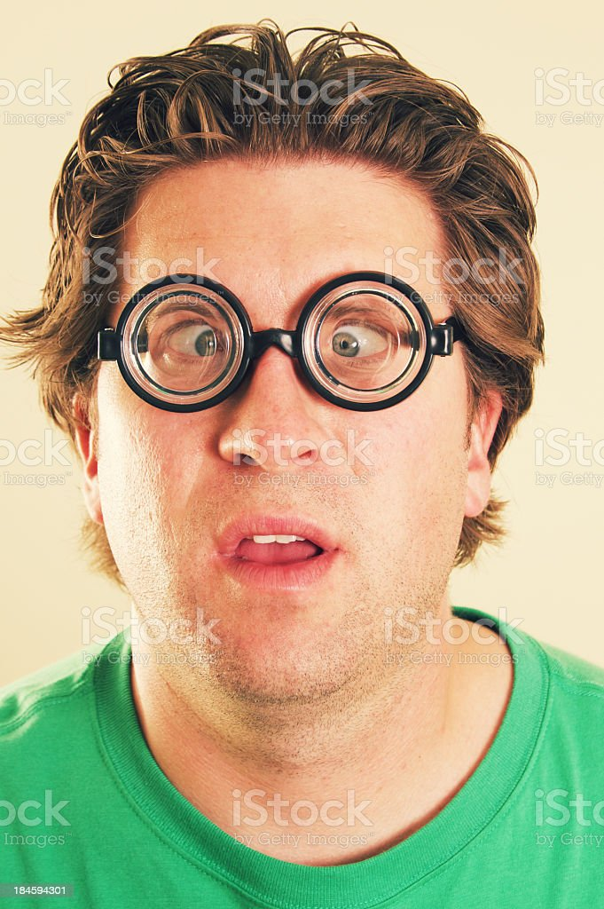 Male Funny Confused Face royalty-free stock photo