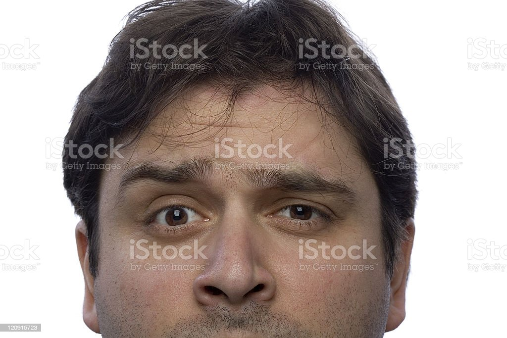 Male gaze - Confusion royalty-free stock photo