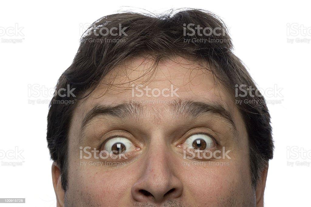 Male gaze stock photo