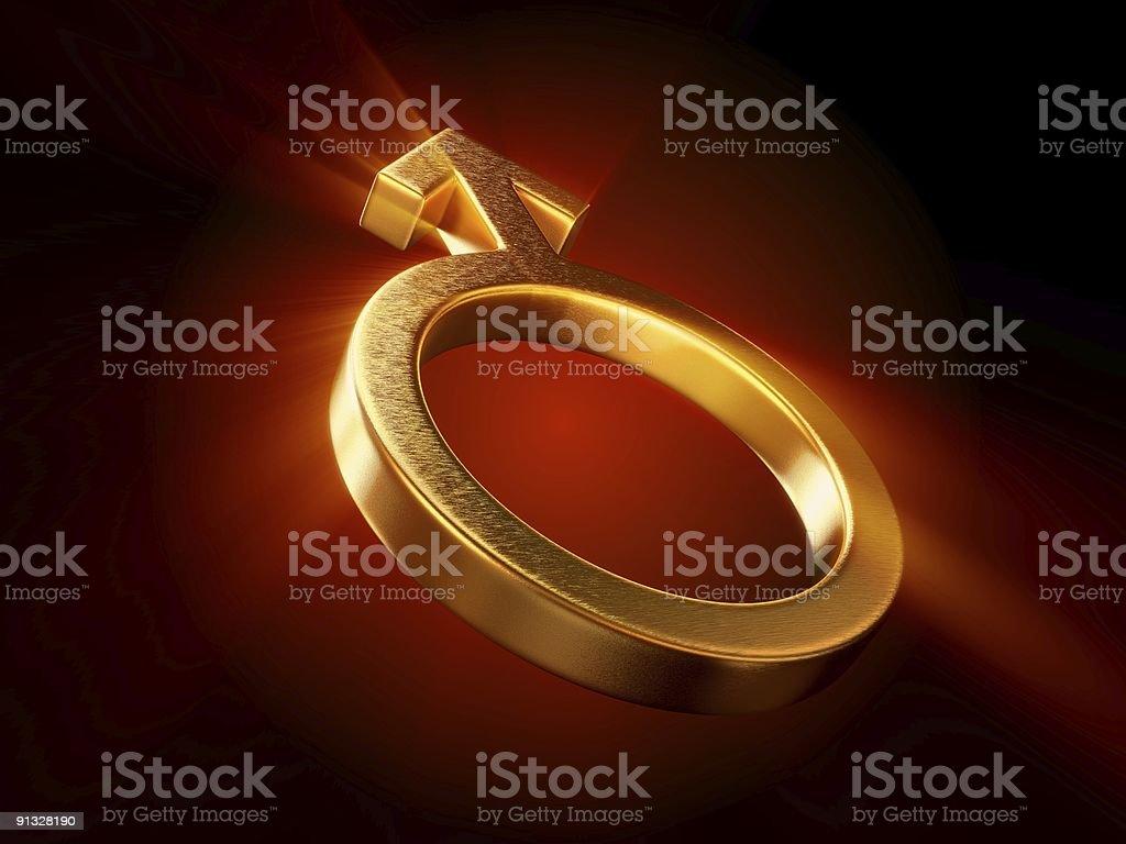 Male Gold Symbol royalty-free stock photo