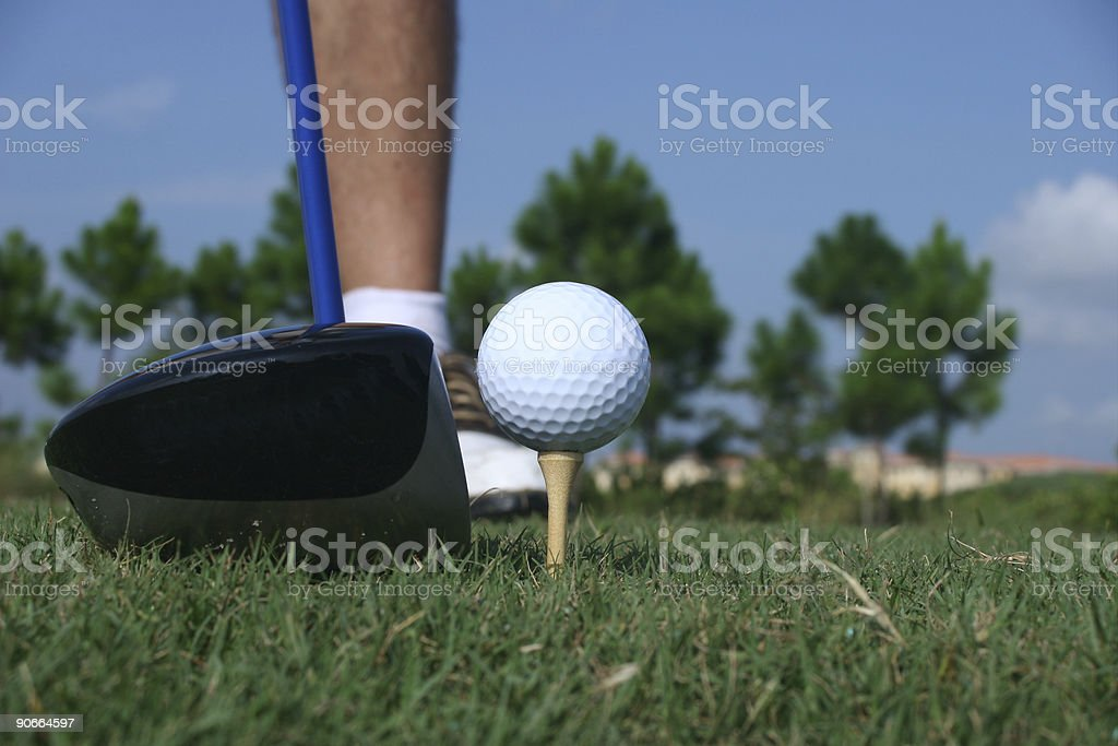 Male Golfer at the Tee royalty-free stock photo