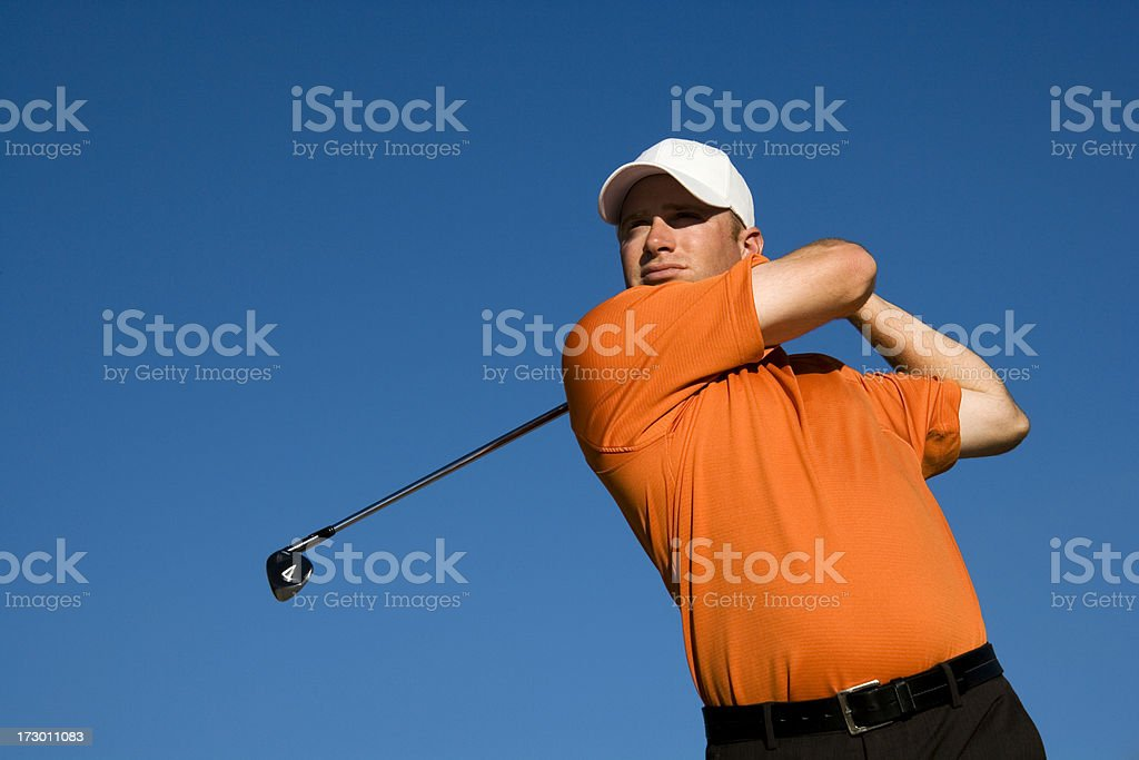 Male Golfer Concentration royalty-free stock photo