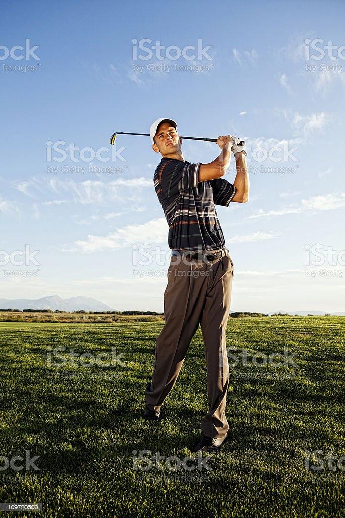 Male Golfer royalty-free stock photo