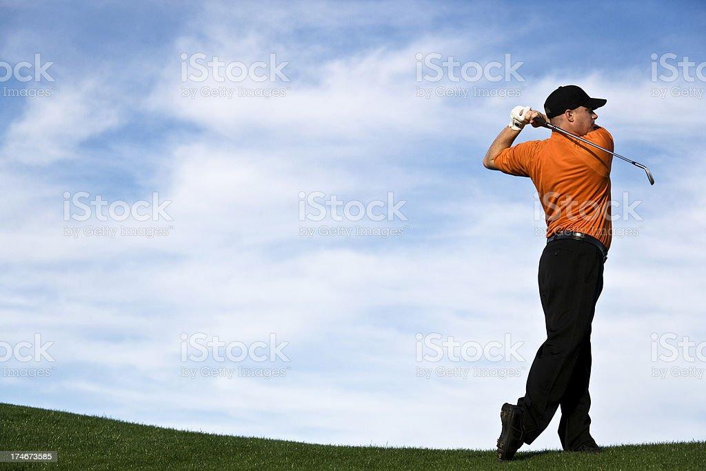 Male Golfer Pose stock photo