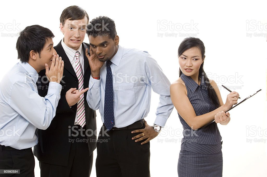 Male Gossips 2 stock photo