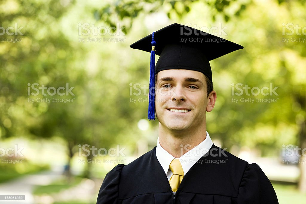Male Graduate stock photo
