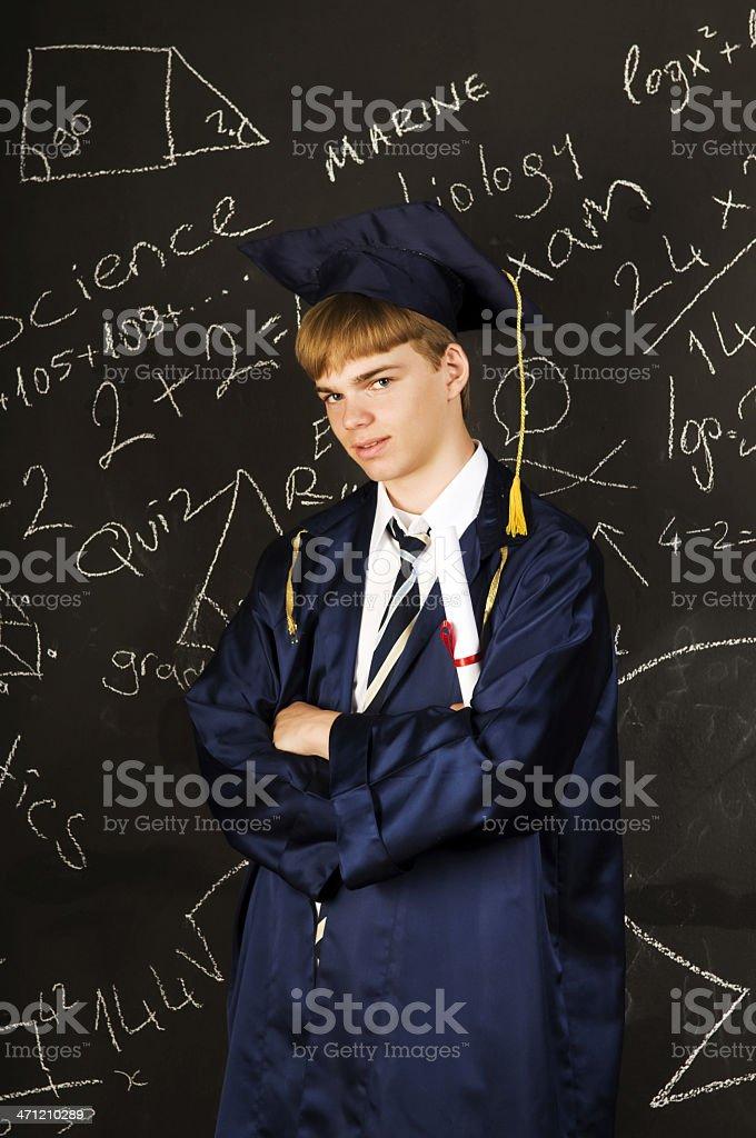 Male Graduate royalty-free stock photo