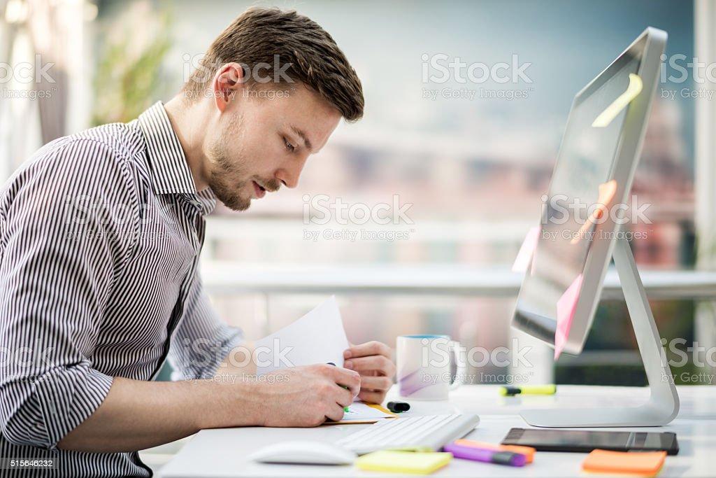 Male graphic designer stock photo