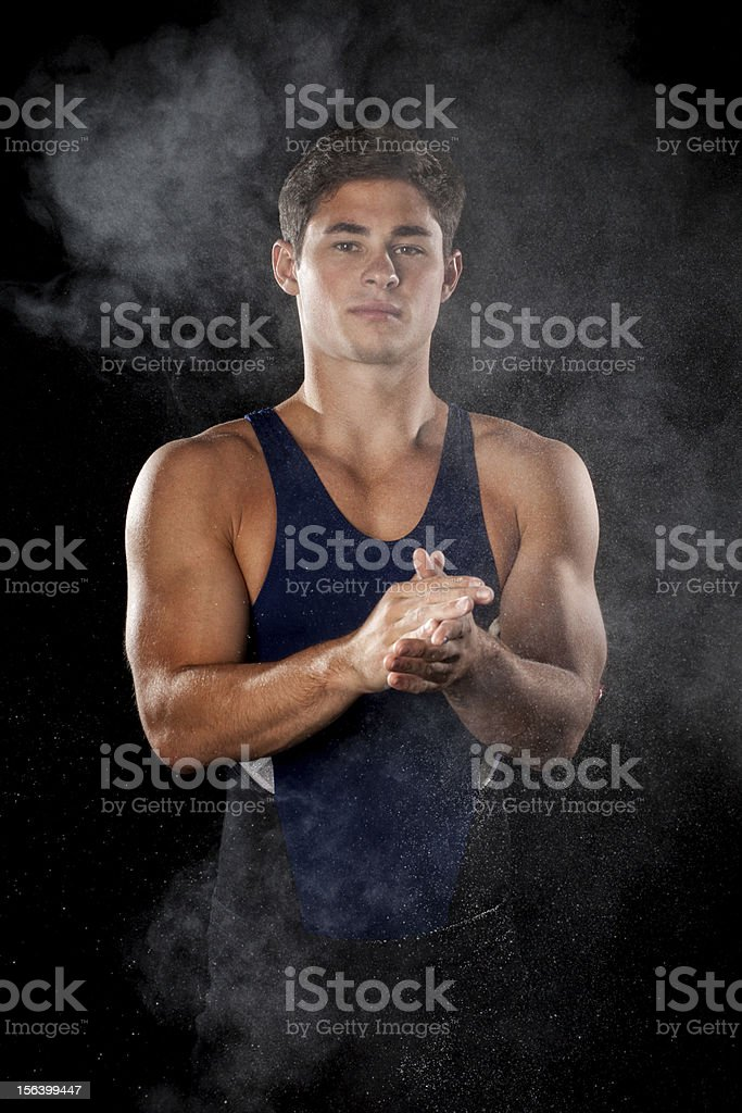 Male Gymnast royalty-free stock photo