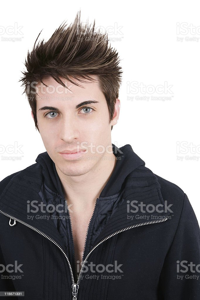 Male Hair Portrait royalty-free stock photo