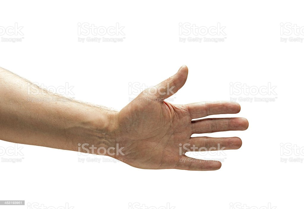 Male Hand stock photo