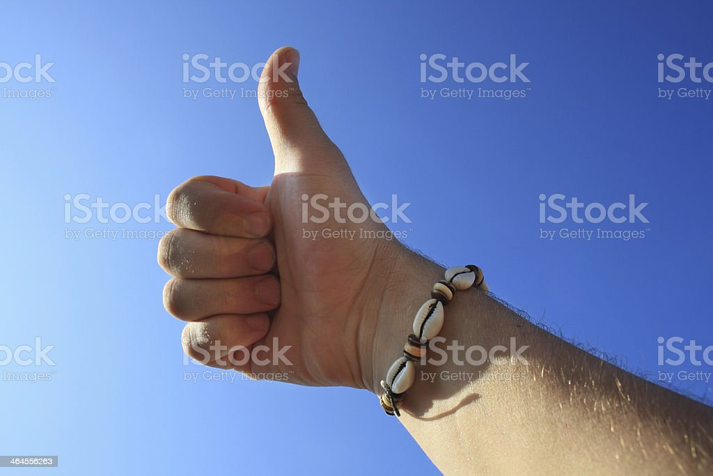 male hand thumbs up stock photo