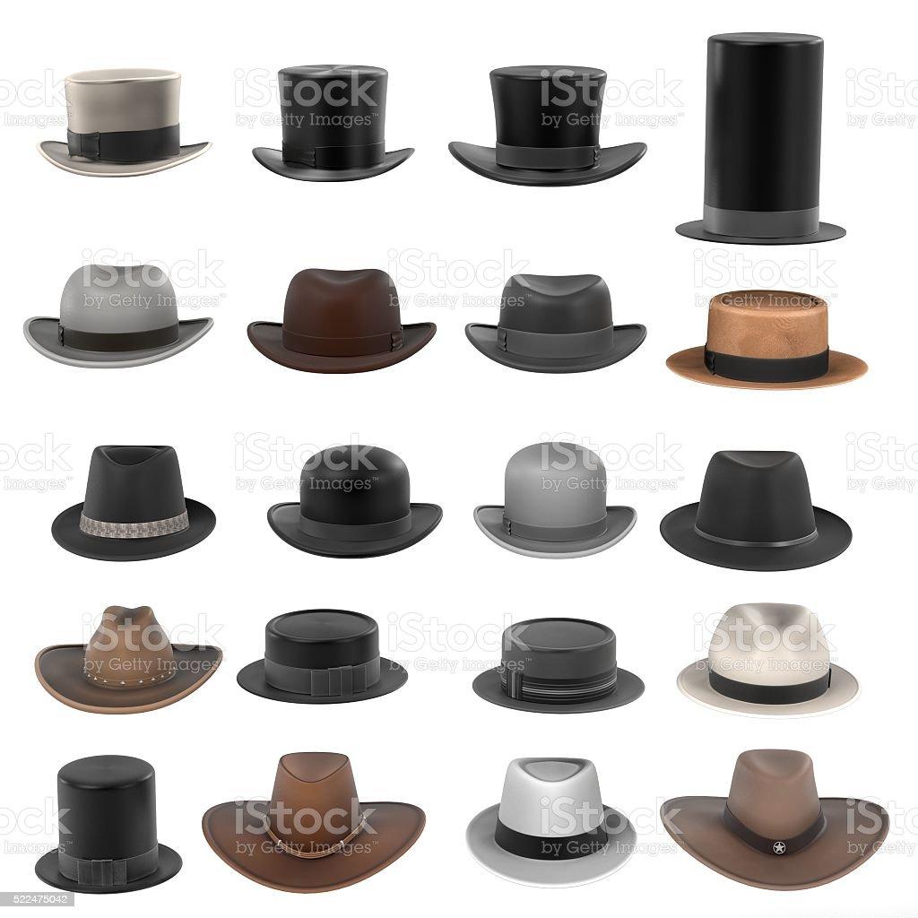 male hats stock photo