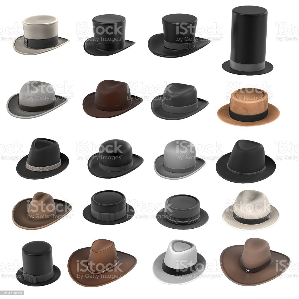 male hats stock photo