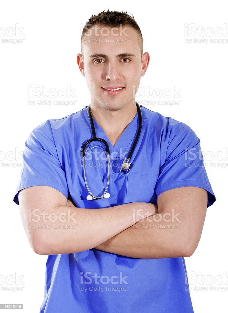 Male health care worker stock photo