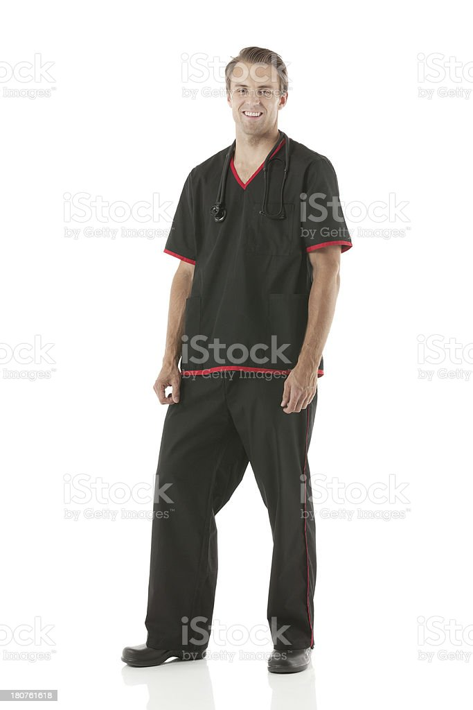 Male healthcare worker with stethescope royalty-free stock photo