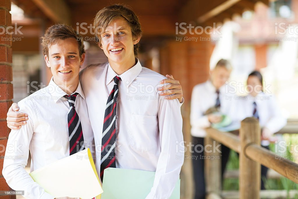 male high school friends royalty-free stock photo