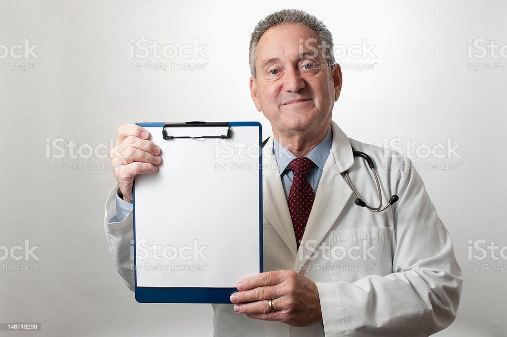 Male Hispanic Doctor Physician on white background stock photo