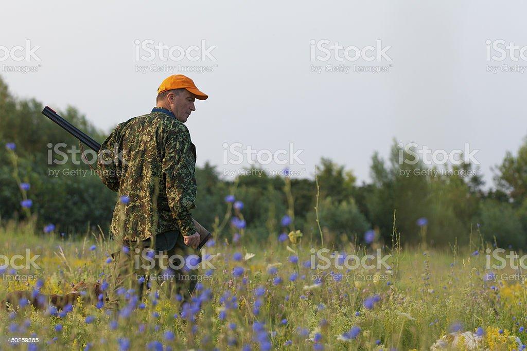 Male hunter stock photo