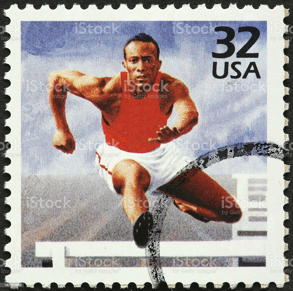 male hurdler royalty-free stock photo