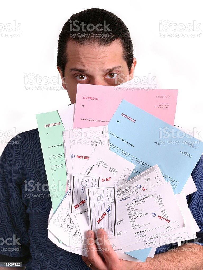 Male In Debt royalty-free stock photo