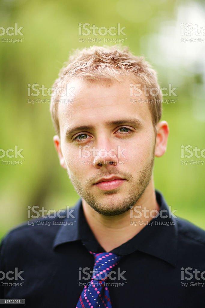 Male in Polka Dot Tie royalty-free stock photo