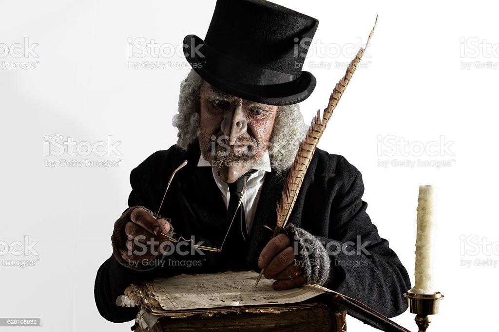 Male in Victorian costume stock photo