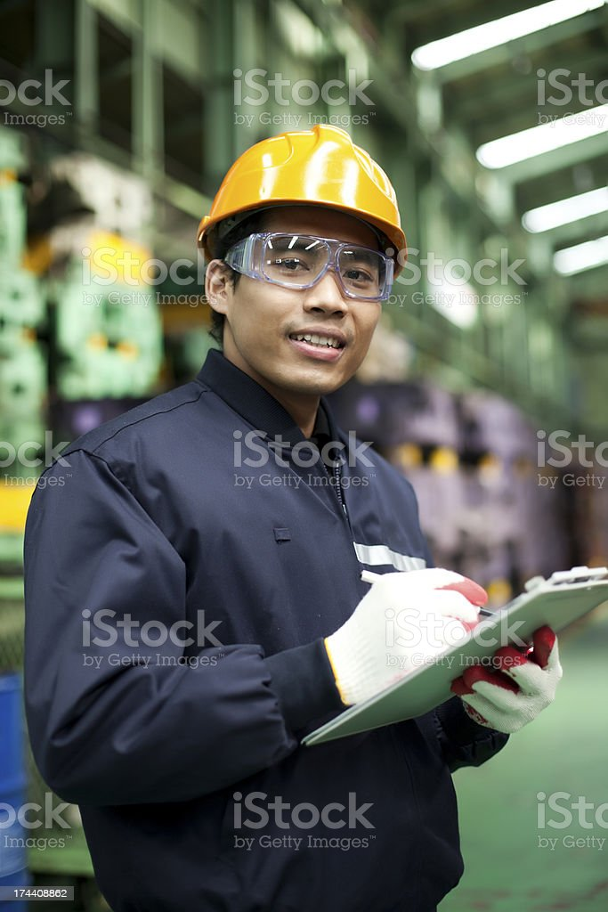 A male industrial engineer in his workplace stock photo