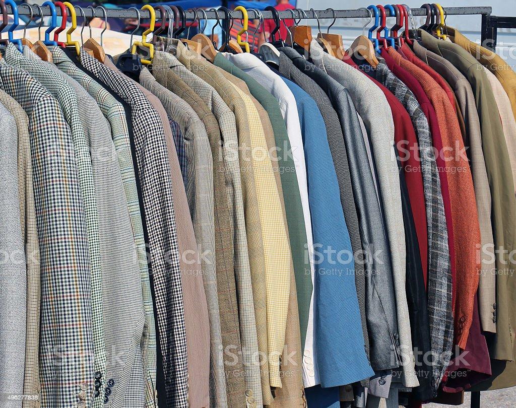 Male jackets stock photo