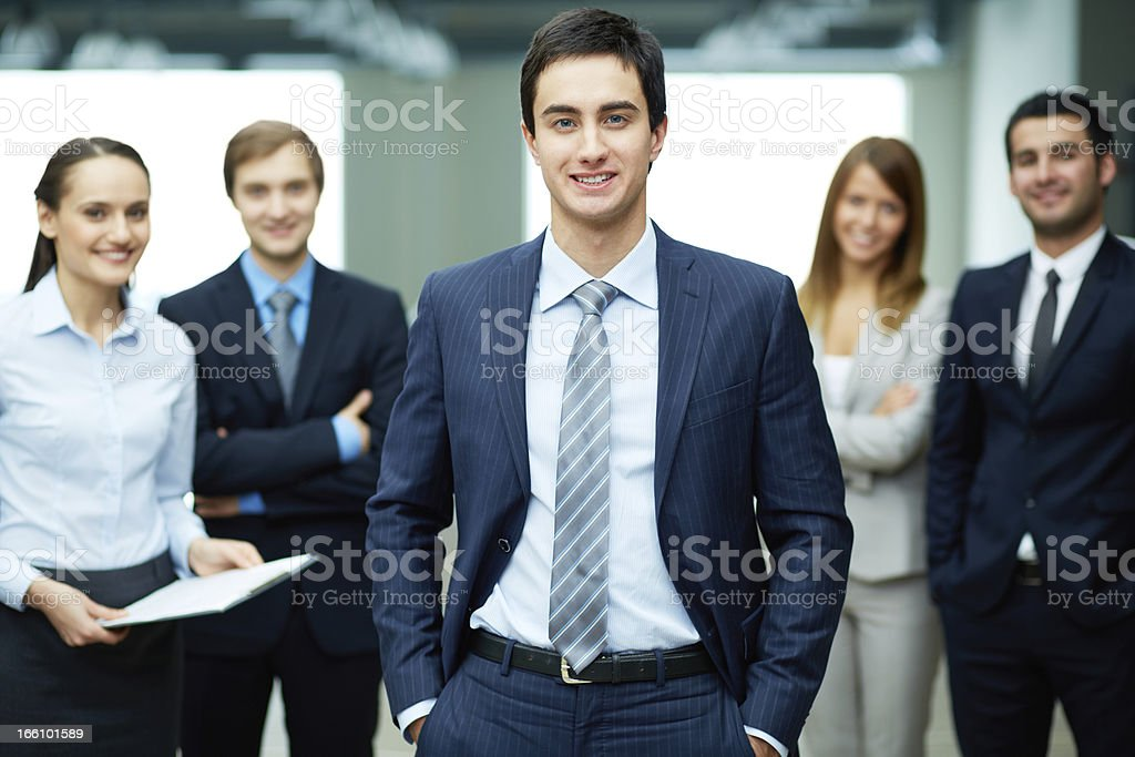 Male leader royalty-free stock photo