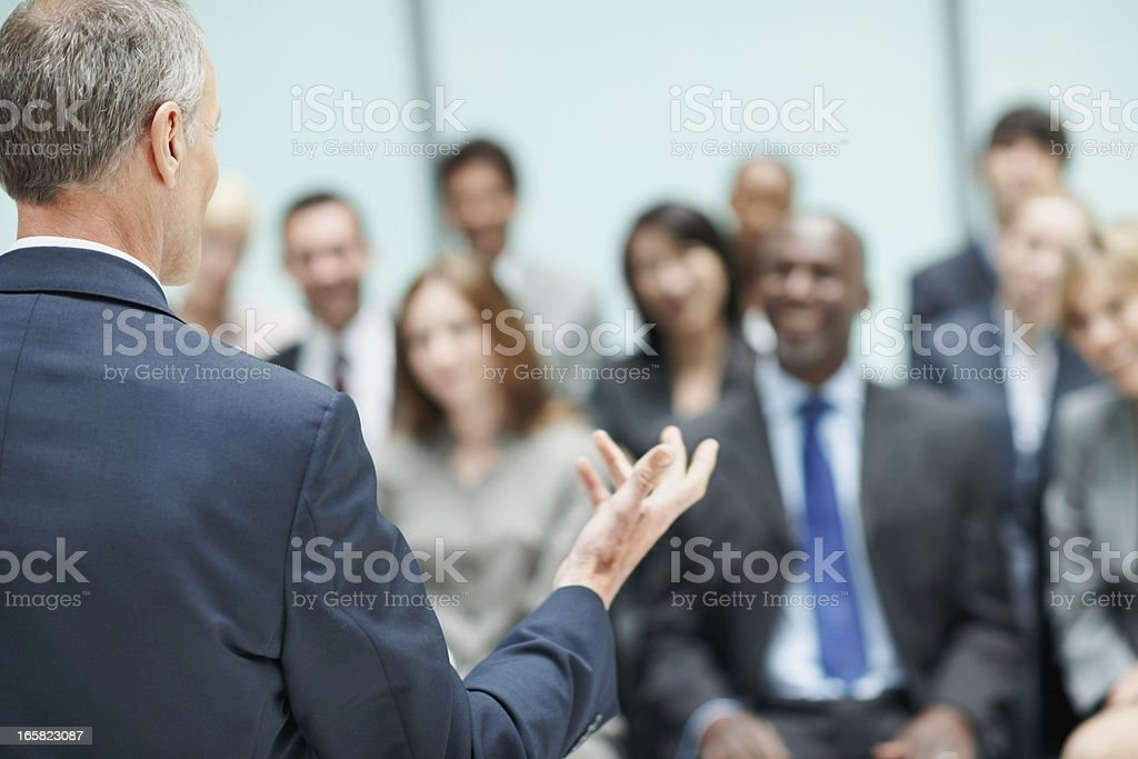 Male leader speaking during business conference royalty-free stock photo