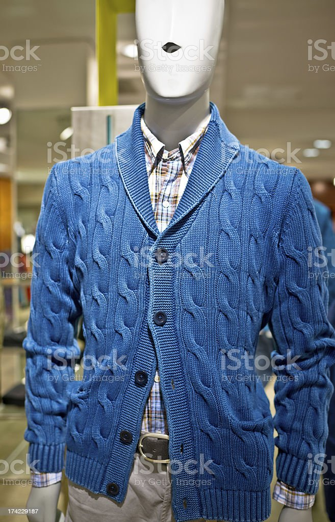 Male Mannequin in clothing store royalty-free stock photo
